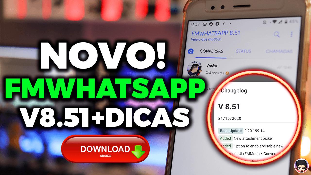 NOVO! SAIU FMWHATSAPP 8.51 + DICAS E TEMA DO IPHONE 2020 ...